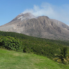 The Soufriere Hills Volcano on Monserrat