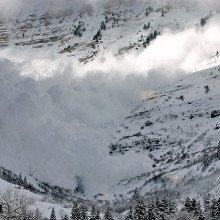 Avalanche on Mt. Timpanogos Utah