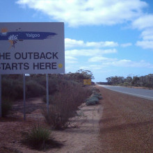Yalgoo shire boundary on the Great Northern Highway Near Mt Gibson.