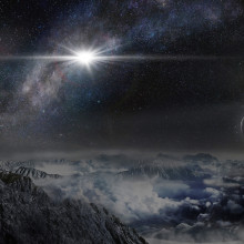 ASASSN-15lh Supernova Artist's Impression - Beijing Planetarium / Jin Ma