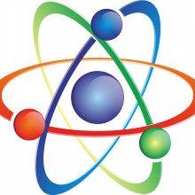 Cartoon schematic of an atom