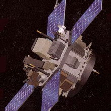 Representation of the Advanced Composition Explorer in space.