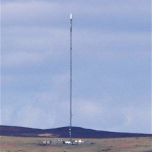 Photograph of the Angus Transmitting Station, also known as the Angus Tall Tower, taken from Fife.
