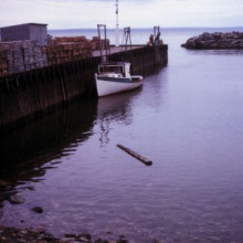 The bay of Fundy at high tide, 1972.