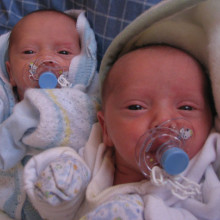 Baby identical twins - they may share the same genes, but which ones are active?