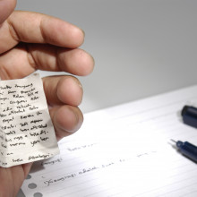 The use of crib notes during an examination is typically viewed as cheating