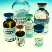 A selection of chemotherapy drugs