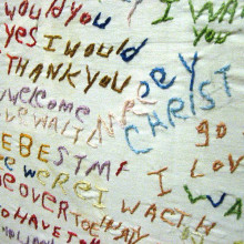 A schizophrenic patient at the Glore Psychiatric Museum made this piece of cloth and it gives us a peek into her mind.