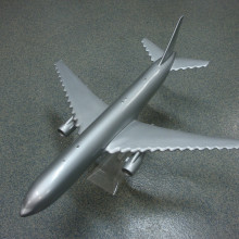 How an aeroplane would look with dimpled wings