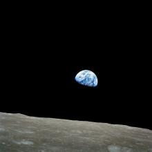 Earth as viewed from Lunar orbit during the Apollo 8 mission
