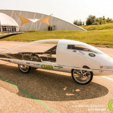 The solar powered car designed and built by the Cambridge University Eco Racing team