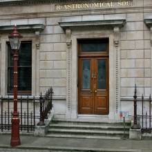 The entrance to the Royal Astronomical Society, Burlington House, London