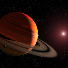 Figure 1: An artist's view of a planet around a red dwarf star