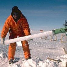 Figure 2: Drilling ice cores in Antarctica.