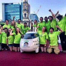 Cambridge Universities Eco Car at the finish line