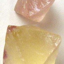 Octahedral fluorite crystals