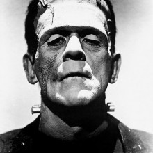 Promotional photo of Boris Karloff from The Bride of Frankenstein as Frankenstein's monster. 1935 and in the public domain.