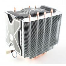 CPU cooler with heatsink tower and cooling fan