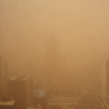 Dust storm at the Gold Coast Australia