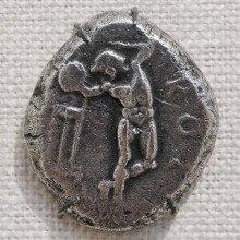 A silver tetradrachm (Ancient Greek coin)