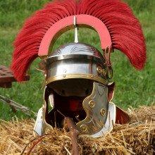 Reconstruction of a Roman Centurion helmet