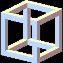 Impossible cube illusion angle