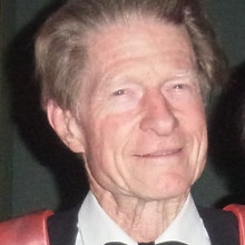 Professor Sir John Gurdon, winner of Nobel Prize for Physiology or Medicine 2012, at the annual Scholar's Dinner of Magdalene College, Cambridge, 10 October 2012