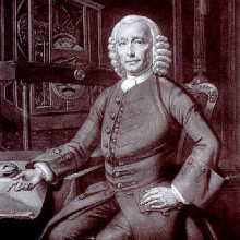 Portrait of John Harrison (1693-1776), English clockmaker and Longitude Prize winner