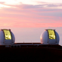 The W. M. Keck Observatory, atop Mauna Kea, Hawai'i