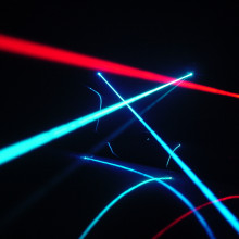 Argon-ion and He-Ne laser beams.