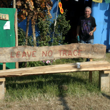 Leave No Trace, a bench at Glastonbury