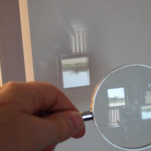 The image from a magnifying glass