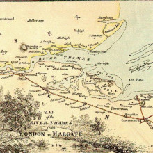 A map of the lower Thames in 1840.