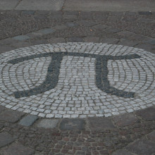 Pi at the entrance mathematician's building, TU-Berlin