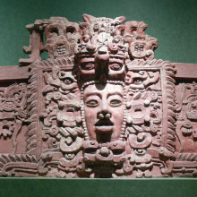 Mayan mask, from the National Museum of Anthropology in Mexico City