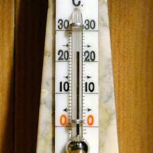 Mercury thermometer. Image credit: Anonimski (wikipedia)