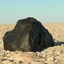 An iron meteorite