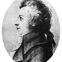 Mozart drawing by Doris Stock, 1789