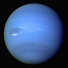Neptune, as seen by Voyager 2.