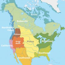 Classification of indigenious peoples of North America according to Alfred Kroeber, English Version