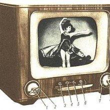 Tube TV-set of 1957-60, model OT-1471 \Belweder\. 14-inch screen diagonal.