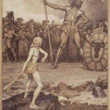 David and Goliath, 1888, Osmar Schindler (1869-1927)