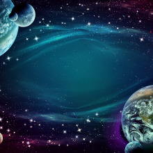Artist's impression of a planets and space