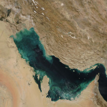 Persian Gulf viewed from space