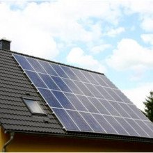 Photovoltaic panels on a domestic roof