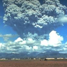 Mt Pinatubo erupting in 1991