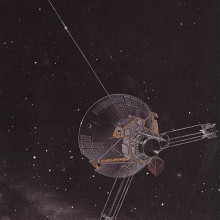Artist's conception of the Pioneer 10-11 spacecraft