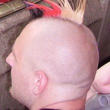 Man with mohawk