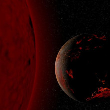 Red giant star and the Earth