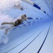 Swimming in a swimming pool